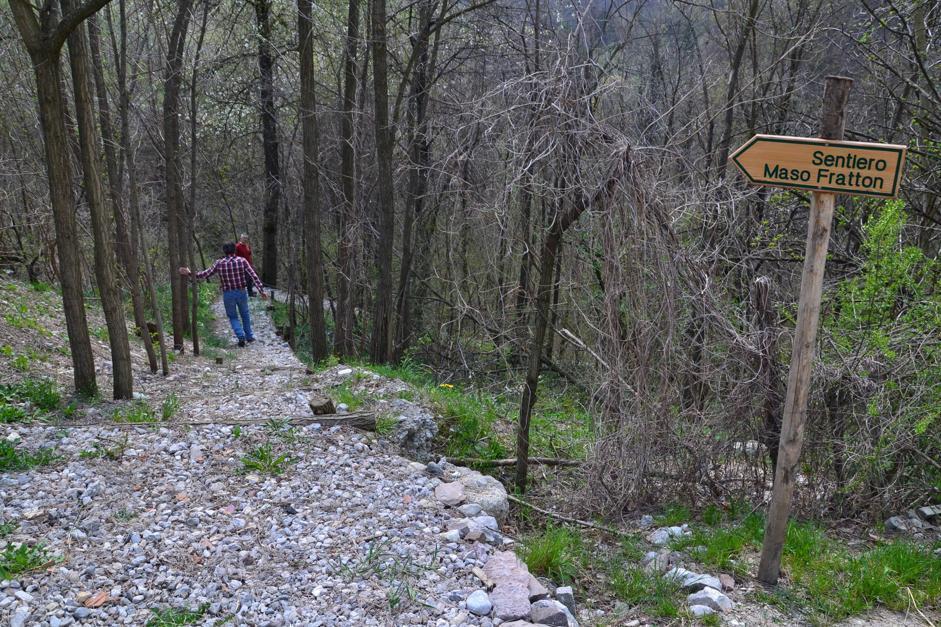 Sentiero di ingresso a Maso Fratton, Parco Adamello-Brenta (Bragonzi/Wwf)