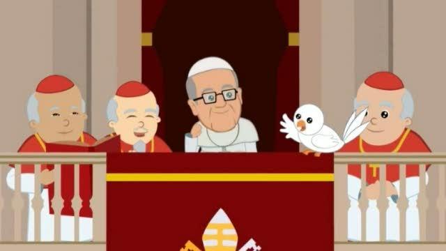 Il primo cartone animato su papa bergoglio corriere tv