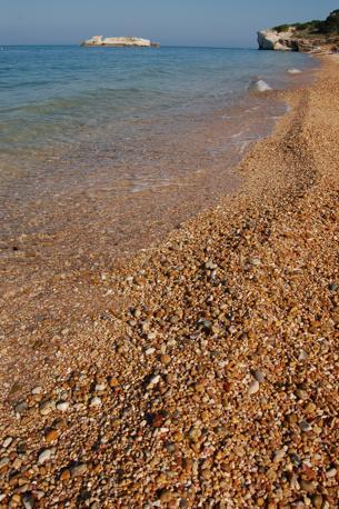 La spiaggia di uno degli angoli più suggestivi del Gargano