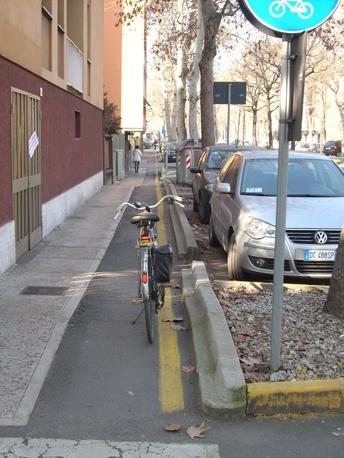 "Modena, ciclopista ""sogliola"" (bicisnob.wordpress.com)"