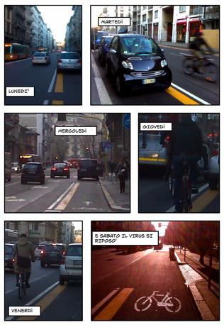 Milano, l'odissea di un ciclista in versione fotoromanzo (bicisnob.wordpress.com)