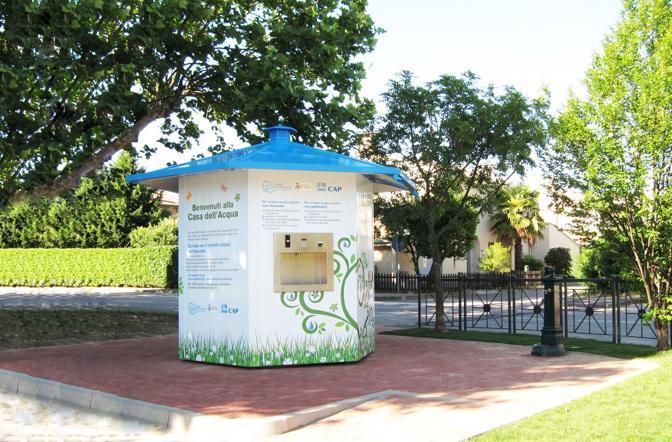 La casa dell'acqua esagonale di Vernate