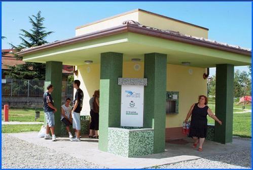 La casa dell'acqua di Pieve Emanuele, in provincia di Milano