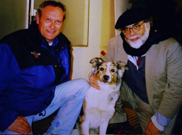 Con il regista Francis Ford Coppola e il cane Eileene