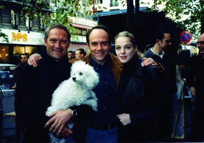 Sul set di «Sono pazzo di Iris Blond» con Carlo Verdone e Claudia Gerini