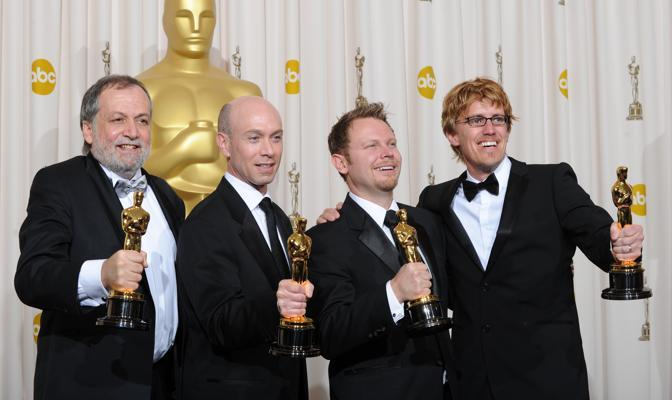 Joe Letteri, Stephen Rosenbaum, Richard Baneham e Andrew R. Jones: oscar per gli effetti speciali in «Avatar» (Afp)