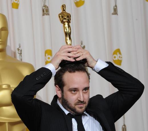 Nicolas Schmerkin, vincitore con «Logorama» del premio per il miglior cortometraggio animato (Afp)