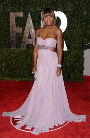 Veli, spalle scoperte e lilla anche per la tennista Serena Williams (Ap)