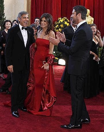 George Clooney  e Elisabetta Canalis (Ansa)