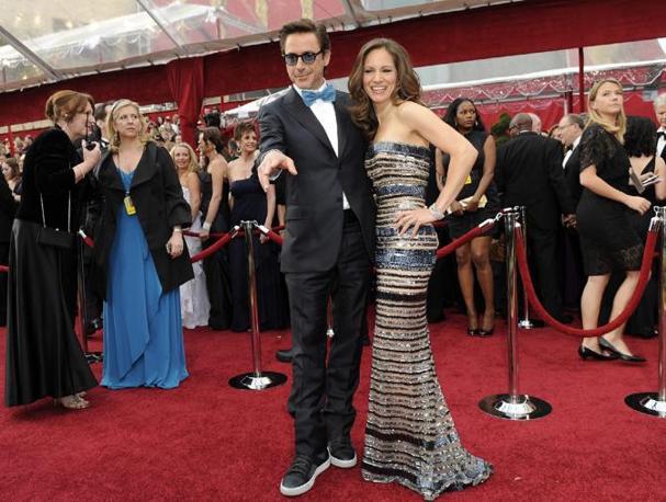 Robert Downey  e la moglie Susan (Ansa)