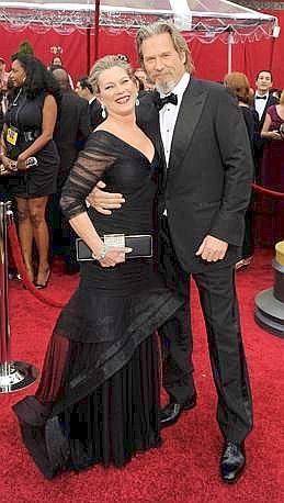 Jeff Bridges e la moglie Susan Geston (Ansa)