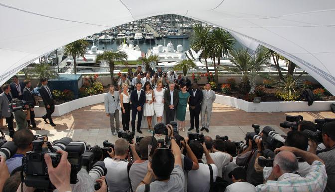 La giuria di Cannes 64 (Afp)