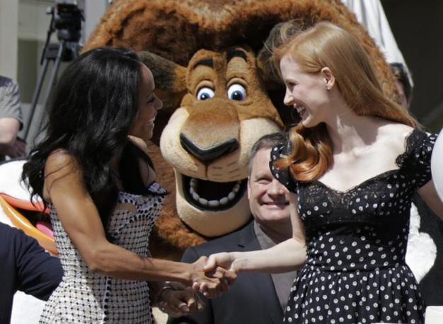 Jada Pinkett-Smith e Jessica Chastain (Reuters/Gaillard)