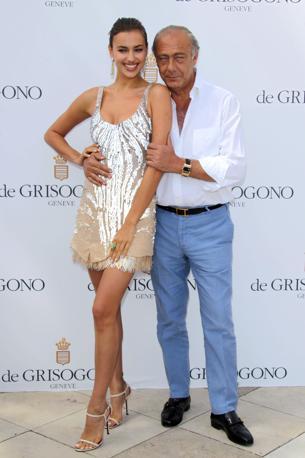 Festival di Cannes 2012. Irina Shayk, la modella russa fidanzata del calciatore Cristiano Ronaldo,  sbarca sulla Croisette. Nella foto � insieme con Fawaz Gruosi presidente di de Grisogono (Olycom)