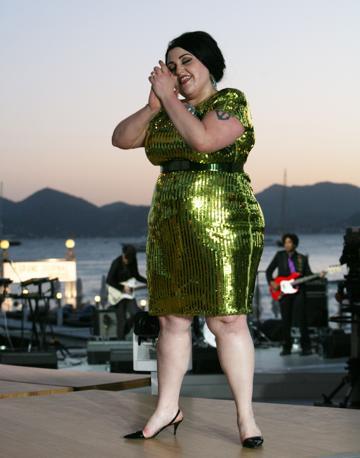 La cantante Beth Ditto (Afp/Venance)