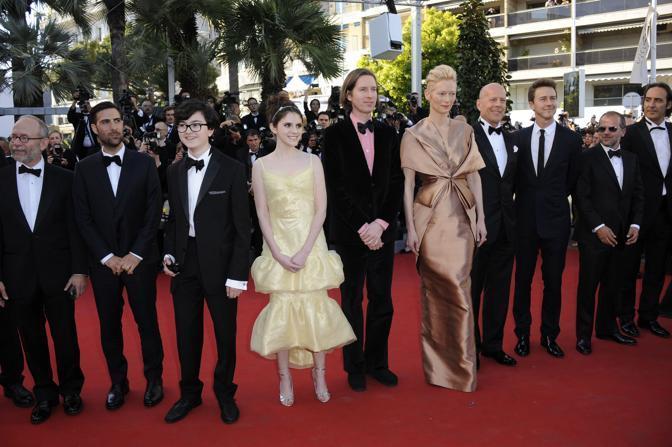 Il cast del film «Moonrise Kingdome» che ha inaugurato la rassegna (Lapresse/Mangiarotti)