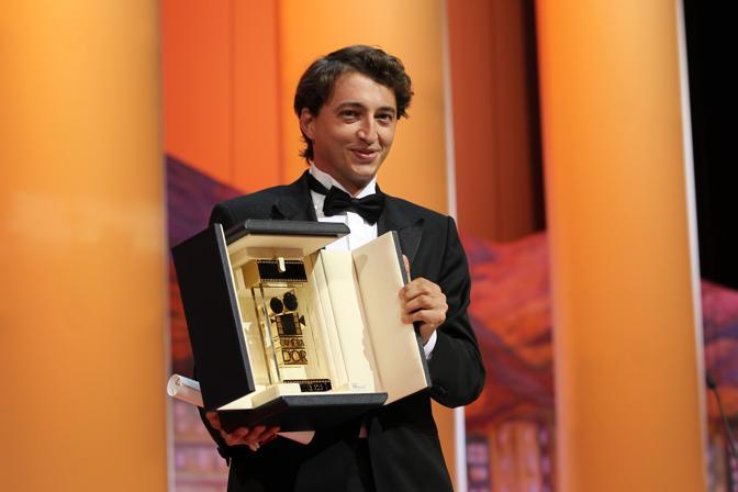 "Il regista Usa Benh Zeitlin che ha vinto la ""Camera d&#39;Or"" (miglior opera prima) per il suo ""Beasts of the Southern Wild""(Afp)"