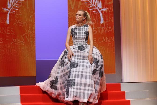 L'attrice tedesca Diane Kruger, membro della giuria (Afp)