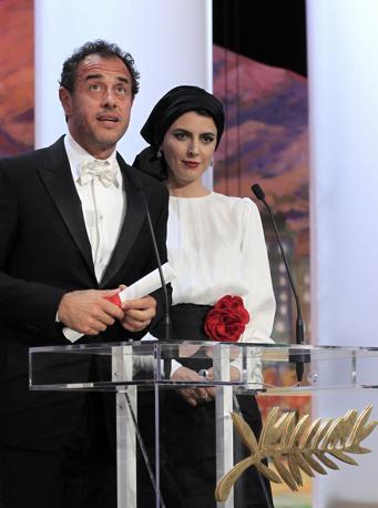 Matteo Garrone con l'attrice Leila Hatami (Reuters)