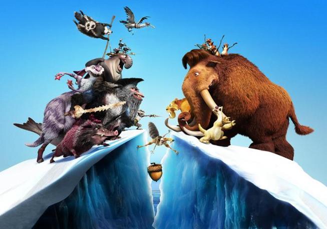 Ecco le prime foto di scena del film d'animazione �L'era glaciale 4: Continenti alla deriva�. Con il  quarto capitolo della saga prei