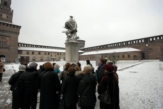 Castello Sforzesco, Milano (Fotogramma)