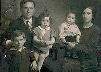 La famiglia Bondi: Leone. Giuseppe, Virginia. Fiorella e Benedetta