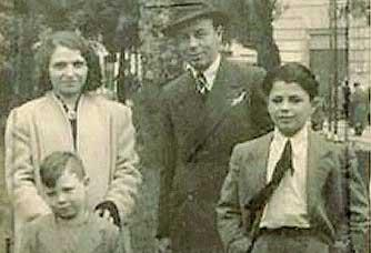 La famiglia Funaro: Teresa, Leo, Adolfo e Dario
