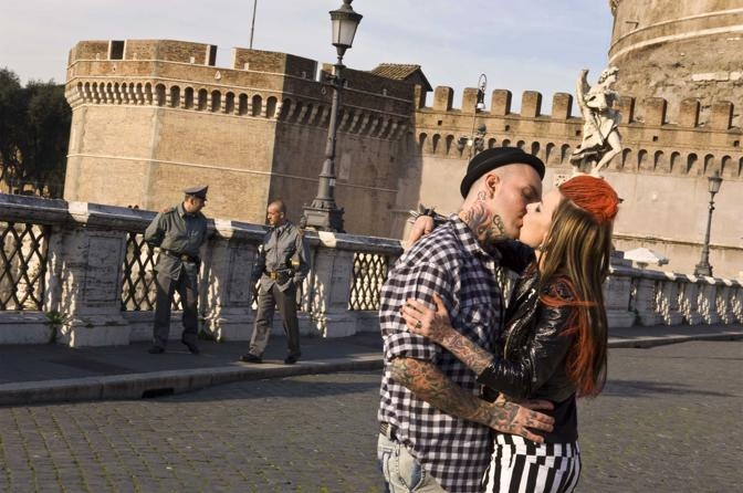 Roma,ore 14.45 - Ponte Sant?Angelo - Foto di Angela lo Priore