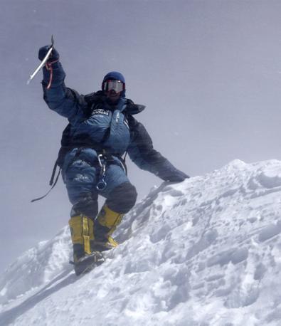 Edurne Pasaban sulla vetta dell'Annapurna (Reuters)
