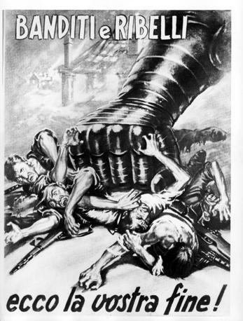 Manifesto di propaganda stampato durante la Seconda guerra mondiale