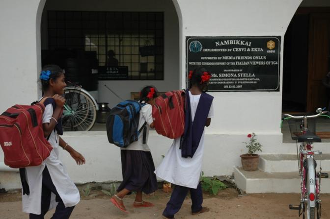Una delle Case del Sorriso di Cesvi in India, Tamil Nadu dove centinaia di bambini possono trovare un luogo dove viene assicurato loro il diritto al gioco e allo studio(Cristina Francesconi/Cesvi)