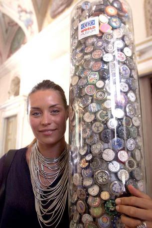 Elenoire Casalegno madrina del World Museum, il museo mondiale dedicato agli Swatch, a Cesano Maderno (Radaelli)