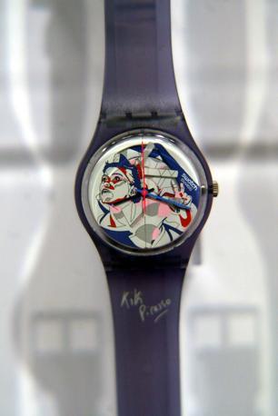 Lo Swatch con quadrante di Kiki Picasso (Radaelli)