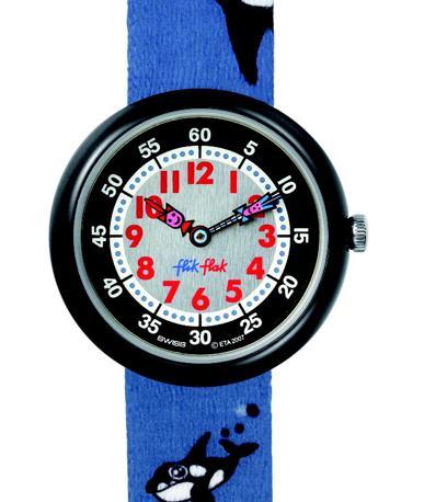 Orologio con Flik e Flak, i fratellini-lancetta inventati da Swatch nel 1987