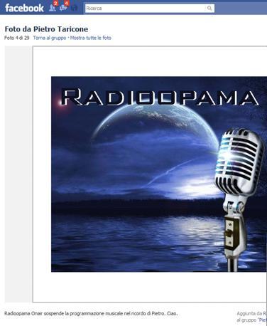 """""""Radioparma sospende la programmazione musicale nel ricordo di Pietro. Ciao"""" (Ansa)"""