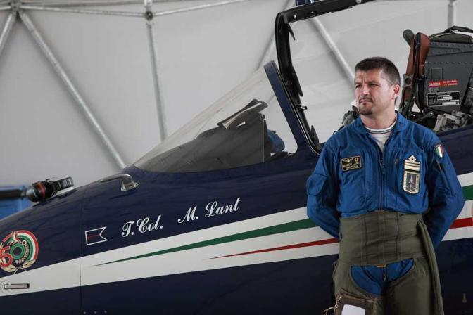 Il tenente colonnello dell'Aeronautica Marco Lant, comandante delle Frecce Tricolori (Biancamaria Monticelli)