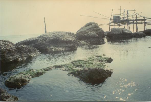 La scogliera di Termoli, prima dei lavori