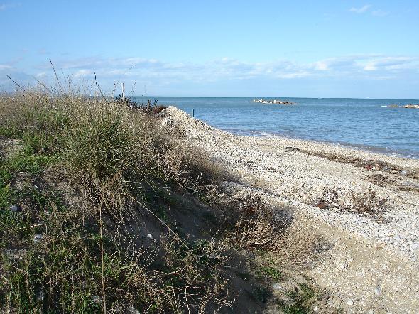 Postilli Riccio, il tratto di spiaggia tra Ortona e Francavilla prima dell'inizio dei lavori
