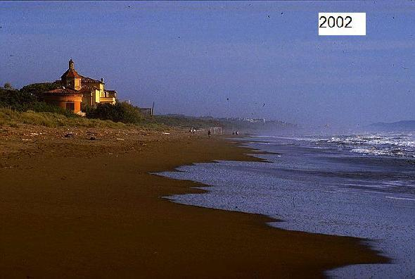 Pianetti a Castagneto Carducci, Livorno. La spiaggia nel 2002 