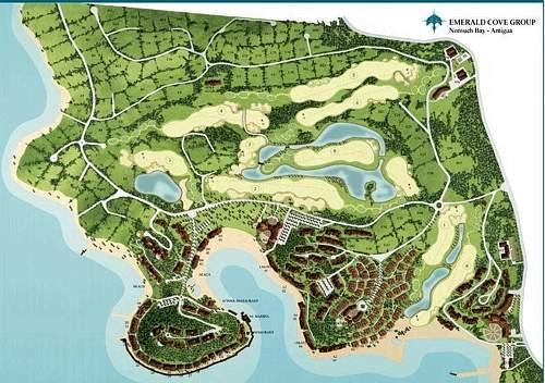 Il progetto del resort di Emerald Cove, elaborato dall'architetto Gianni Gamondi, accanto al quale sorge la nuova villa del Cavaliere