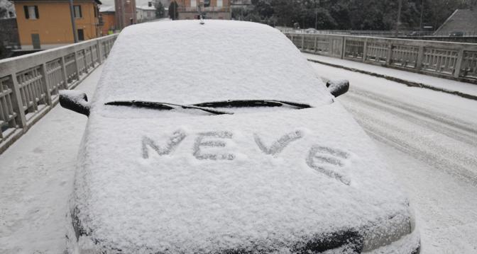 Neve in Romagna (foto Polaris/Venturini Cusercoli)