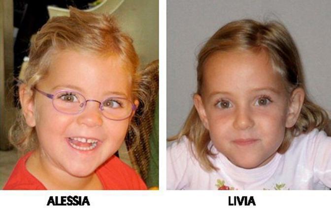 Alessia e Livia Schepp, 6 anni, le gemelline svizzere scomparse (Epa)