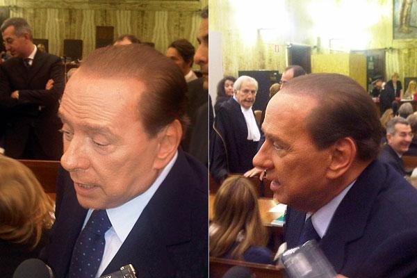 Silvio Berlusconi in tribunale a Milano per il processo diritti tv Mediaset