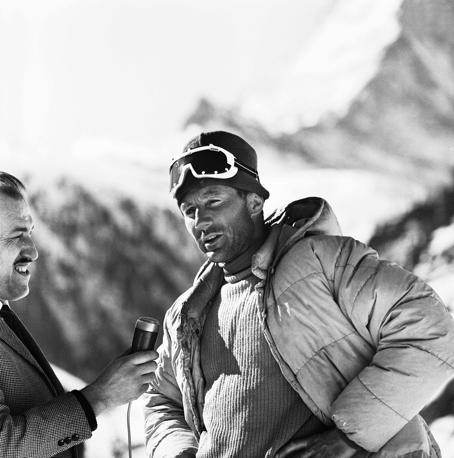 Intervistato a Zermatt (Photomasi)