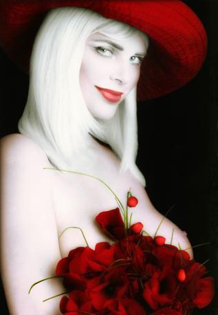 Cicciolina, in una delle immagini di Gianfranco Salis