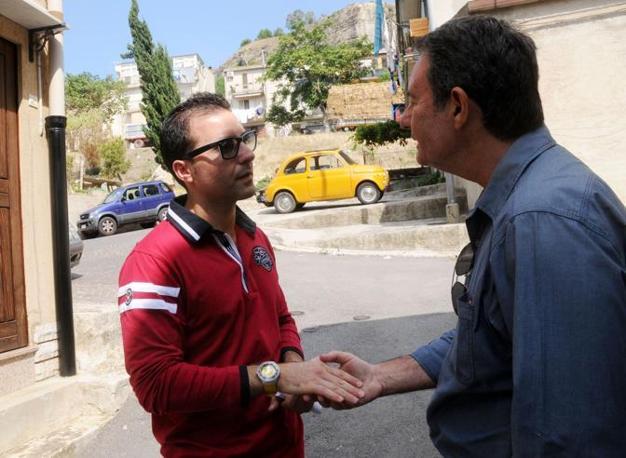 Giuseppe Salvatore Riina a Corleone incontra il giornalista del Corriere della Sera Felice Cavallaro (Foto Alessandro Fucarini)