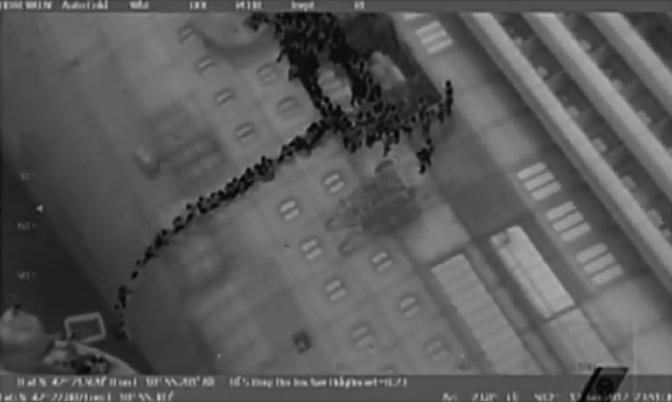 La tragedia della Costa Concordia: le immagini dell'abbandono della nave riprese agli infrarossi