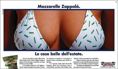 La ditta Zappal�, grossa azienda casearia siciliana, si distingue per l'aggressivit� del messaggio �erotico�