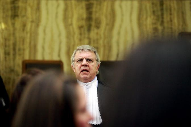 Ancora Piero Longo in udienza (foto Enrico Brandi)