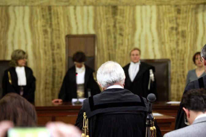 Il momento della lettura della sentenza (Enrico Brandi)